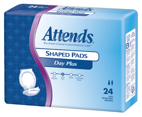 Attends DayPlus Shaped Pads