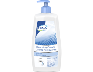 TENA Skin-Caring Cleansing Cream Bottle
