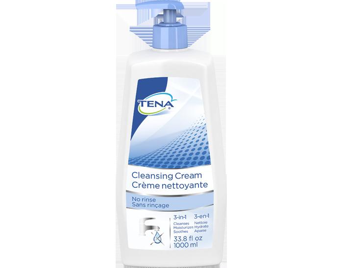 TENA Skin-Caring Cleansing Cream Bottle