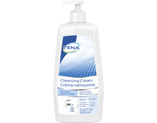 TENA Cleansing Cream Scent Free Bottle