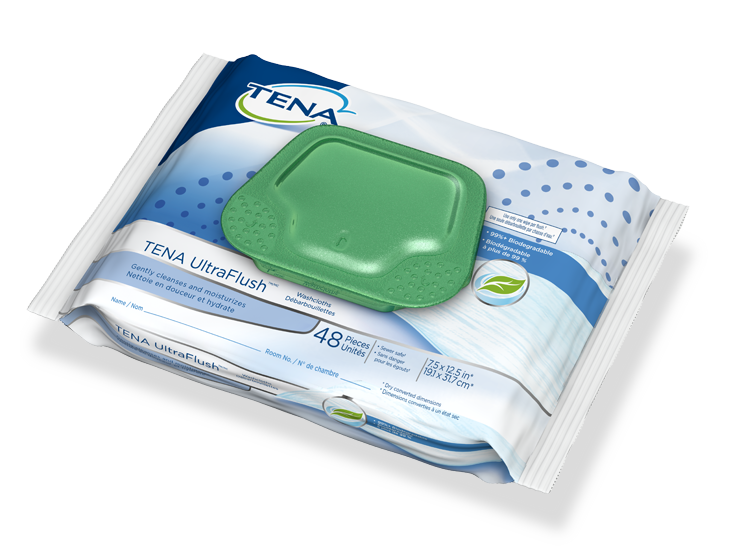TENA Flushable Washcloths
